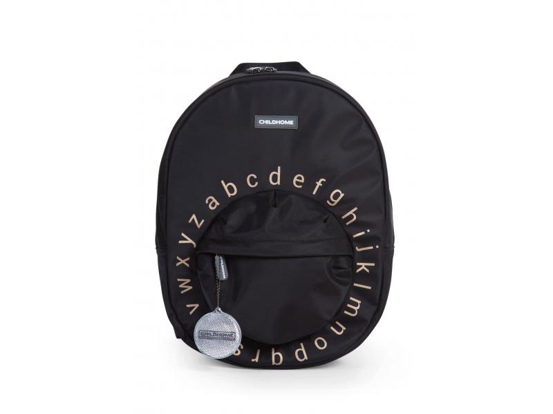 Childhome Detský batoh Kids School Backpack Black Gold