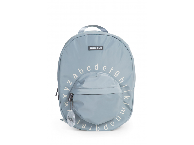 Childhome Detský batoh Kids School Backpack Grey Off White